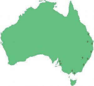 Hydro Produce farm locations across Australia